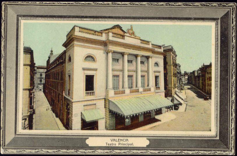 Spain valencia teatro principal theatre 1913 ebay for Teatro principal valencia