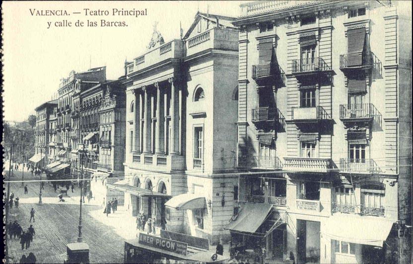 Spain valencia teatro principal theatre 1920s ebay for Teatro principal valencia