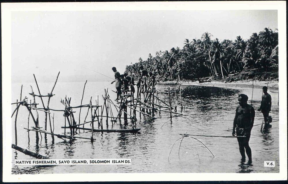 Solomon islands savo island native fishermen fishing for Solomons island fishing report